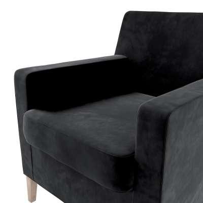 Pokrowiec na fotel Karlstad w kolekcji Velvet, tkanina: 704-17