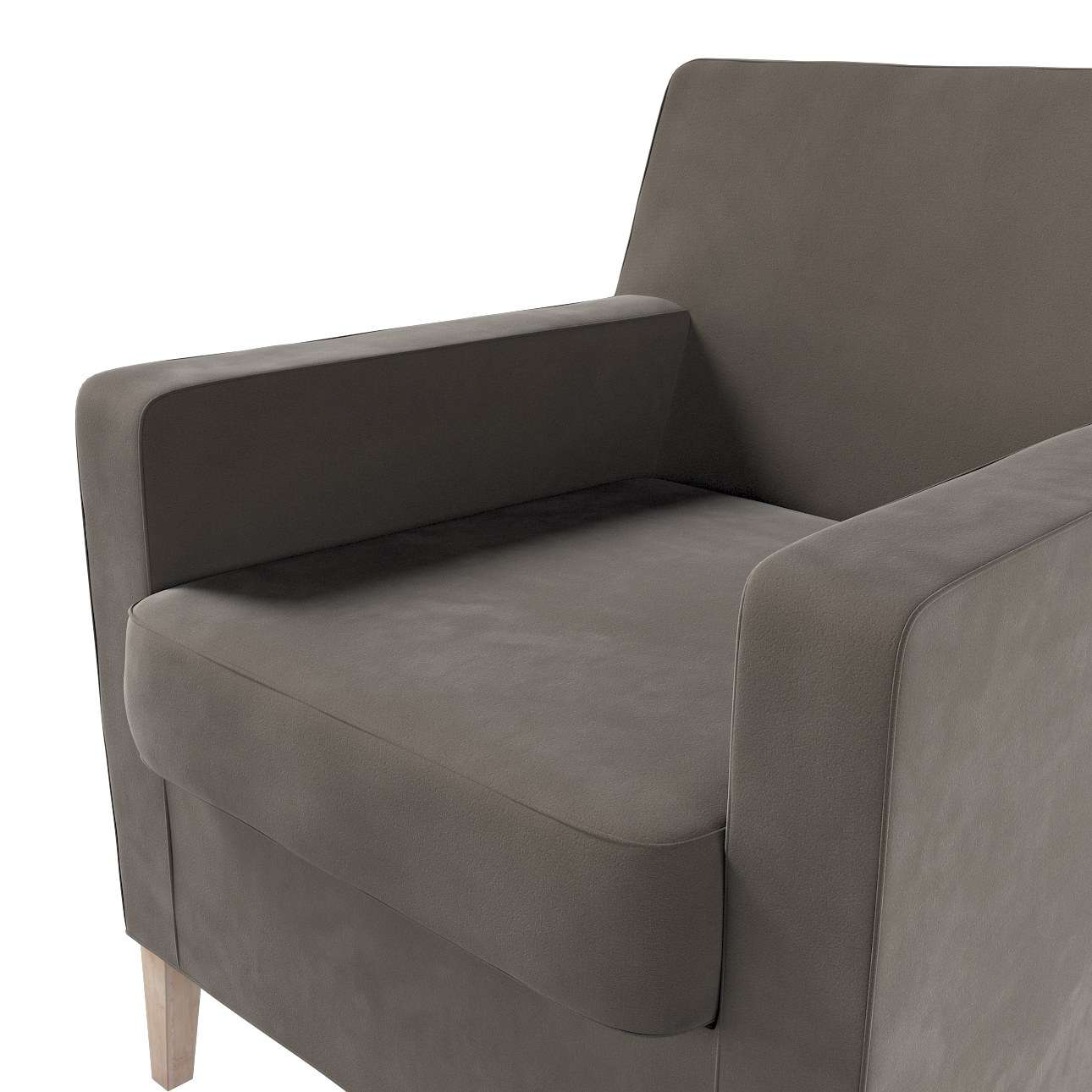 Pokrowiec na fotel Karlstad w kolekcji Velvet, tkanina: 704-19