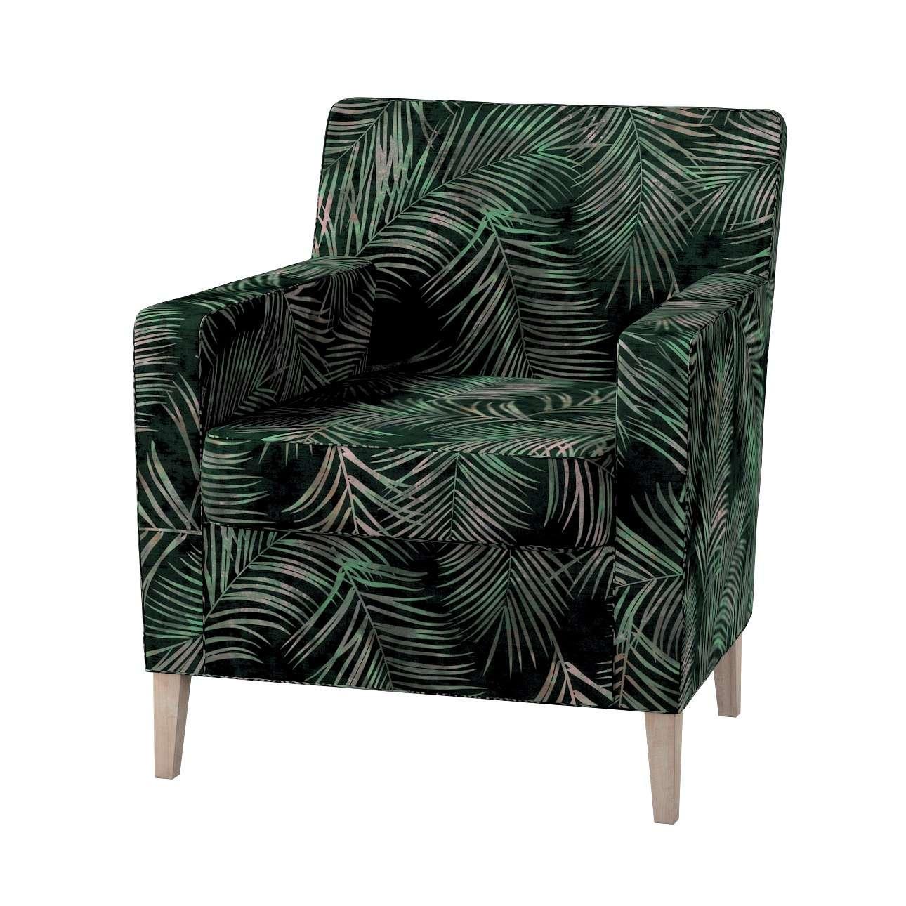Pokrowiec na fotel Karlstad w kolekcji Velvet, tkanina: 704-21