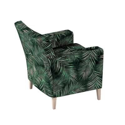 Karlstad  fotel huzat (magasított háttámálás) a kollekcióból Velvet  Lakástextil, Dekoranyag: 704-21