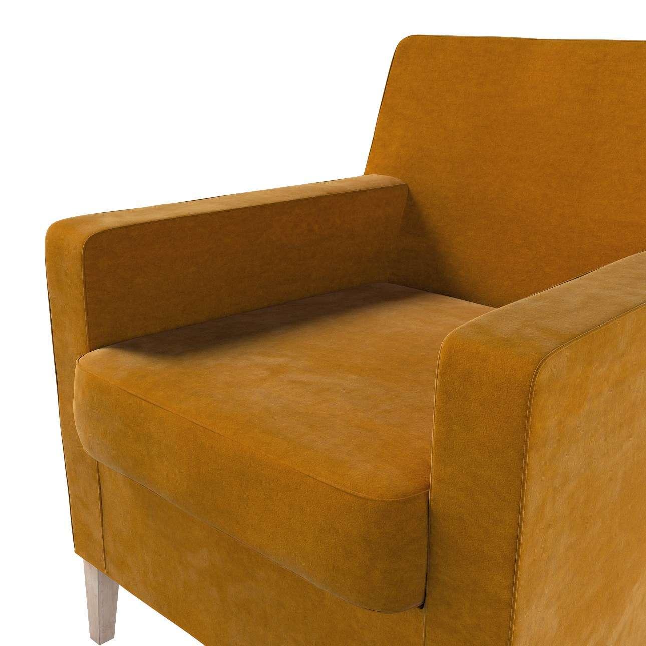 Pokrowiec na fotel Karlstad w kolekcji Velvet, tkanina: 704-23