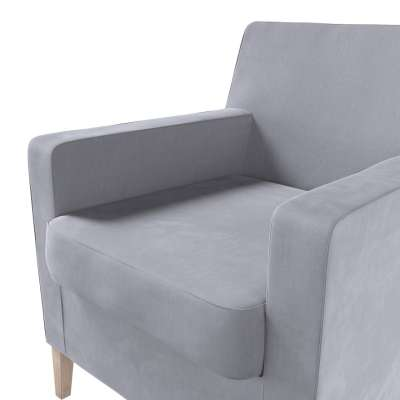 Pokrowiec na fotel Karlstad w kolekcji Velvet, tkanina: 704-24