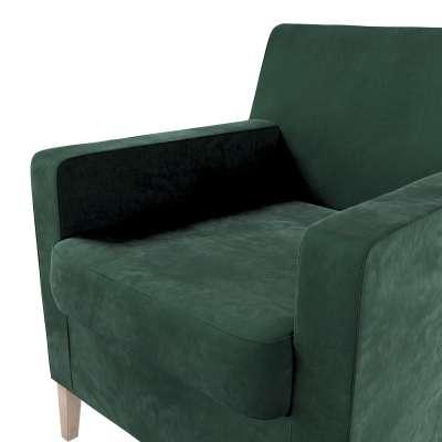 Pokrowiec na fotel Karlstad w kolekcji Velvet, tkanina: 704-25