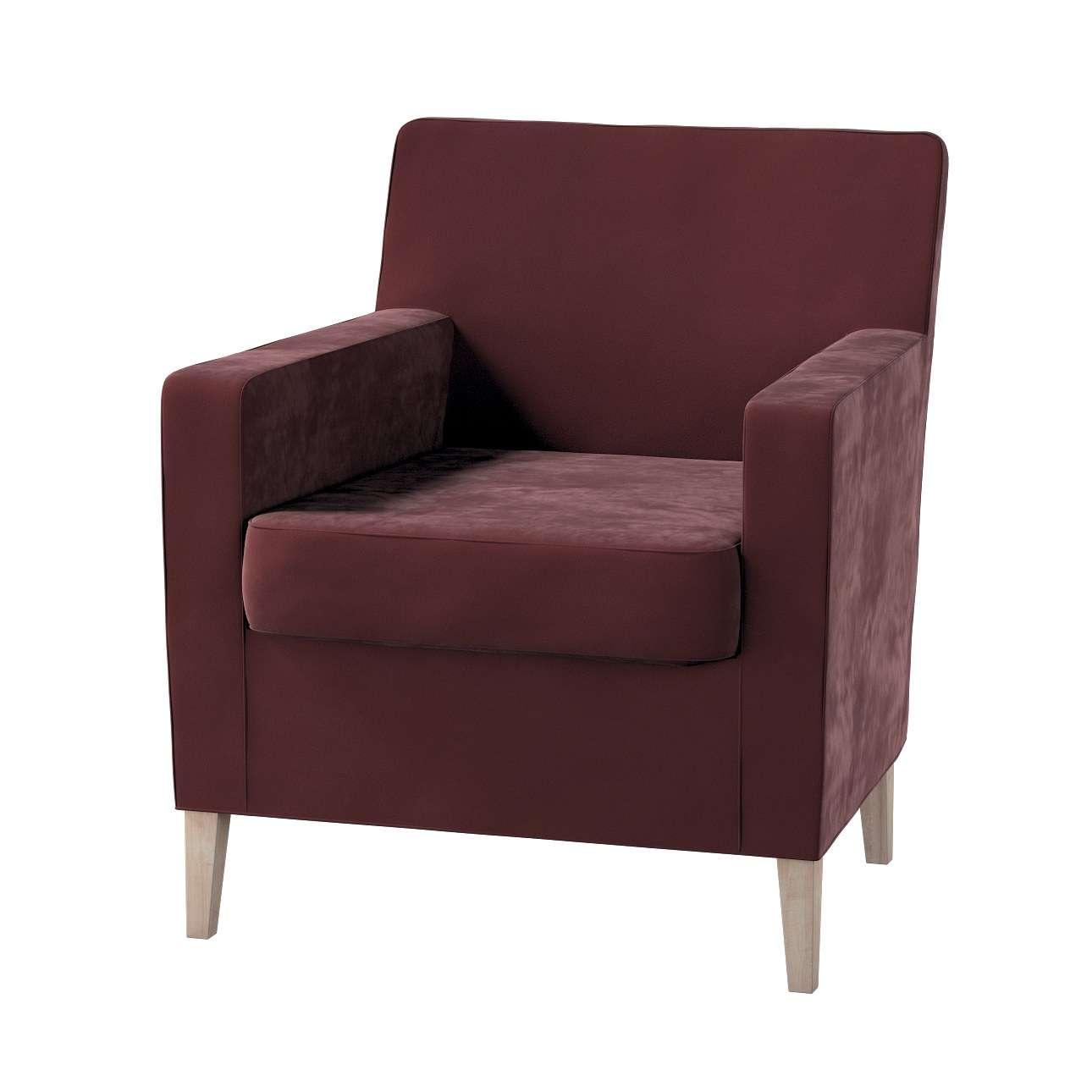 Pokrowiec na fotel Karlstad w kolekcji Velvet, tkanina: 704-26