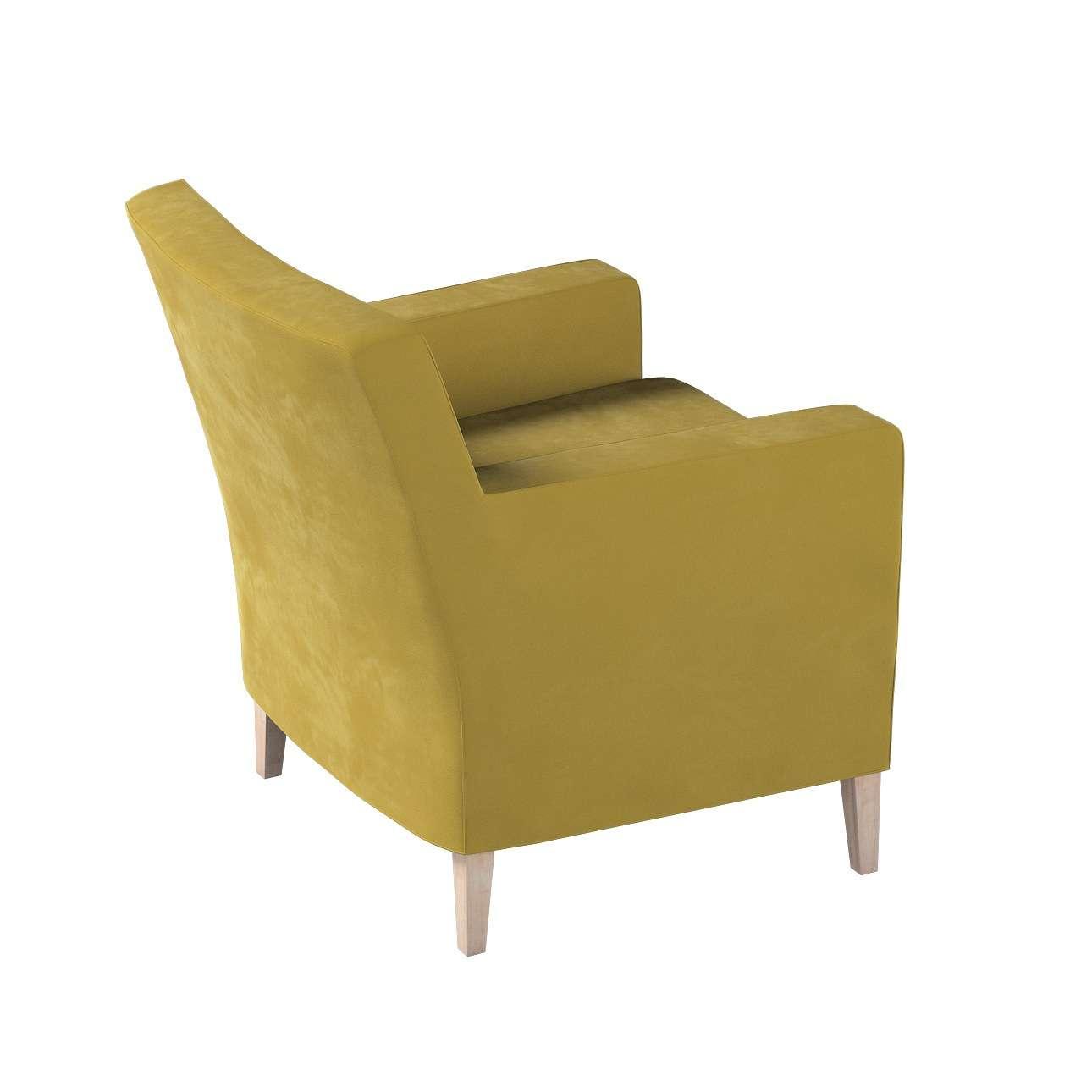 Pokrowiec na fotel Karlstad w kolekcji Velvet, tkanina: 704-27