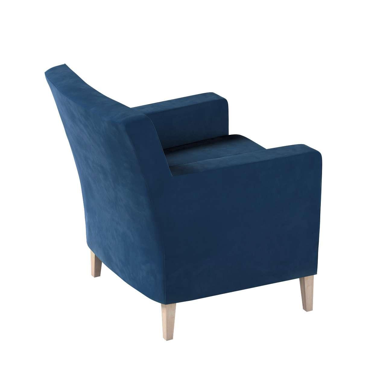 Pokrowiec na fotel Karlstad w kolekcji Velvet, tkanina: 704-29
