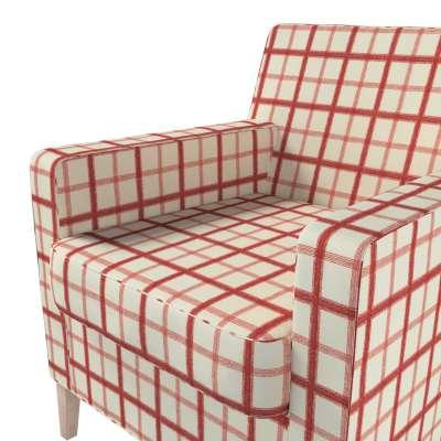 Pokrowiec na fotel Karlstad w kolekcji Avinon, tkanina: 131-15