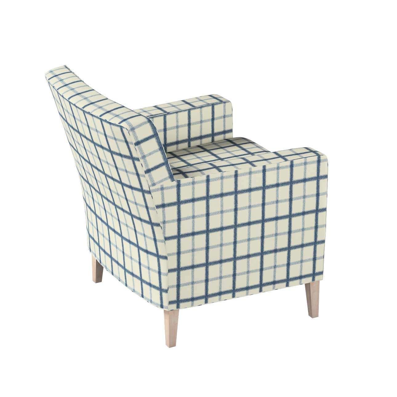 Pokrowiec na fotel Karlstad w kolekcji Avinon, tkanina: 131-66