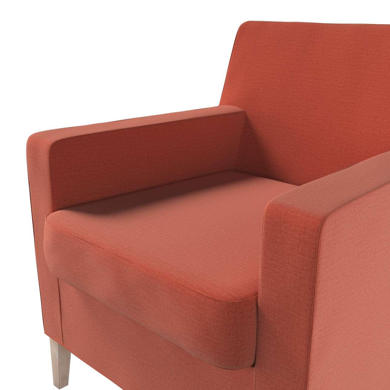 Pokrowiec na fotel Karlstad w kolekcji Ingrid, tkanina: 705-37