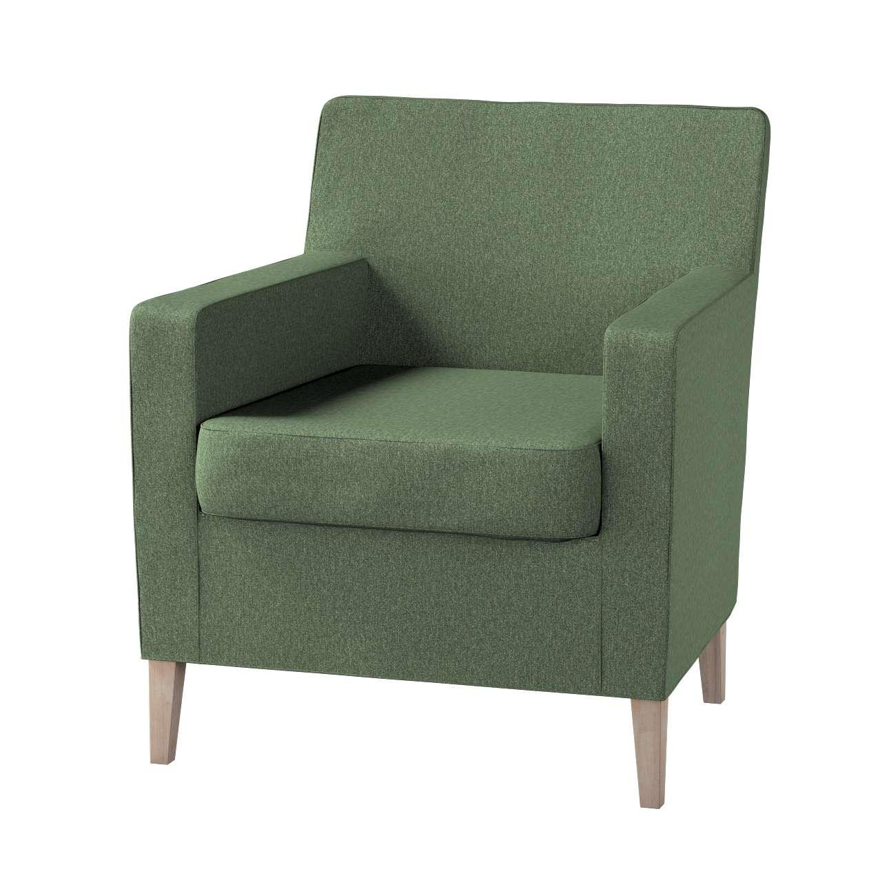 Pokrowiec na fotel Karlstad w kolekcji Amsterdam, tkanina: 704-44