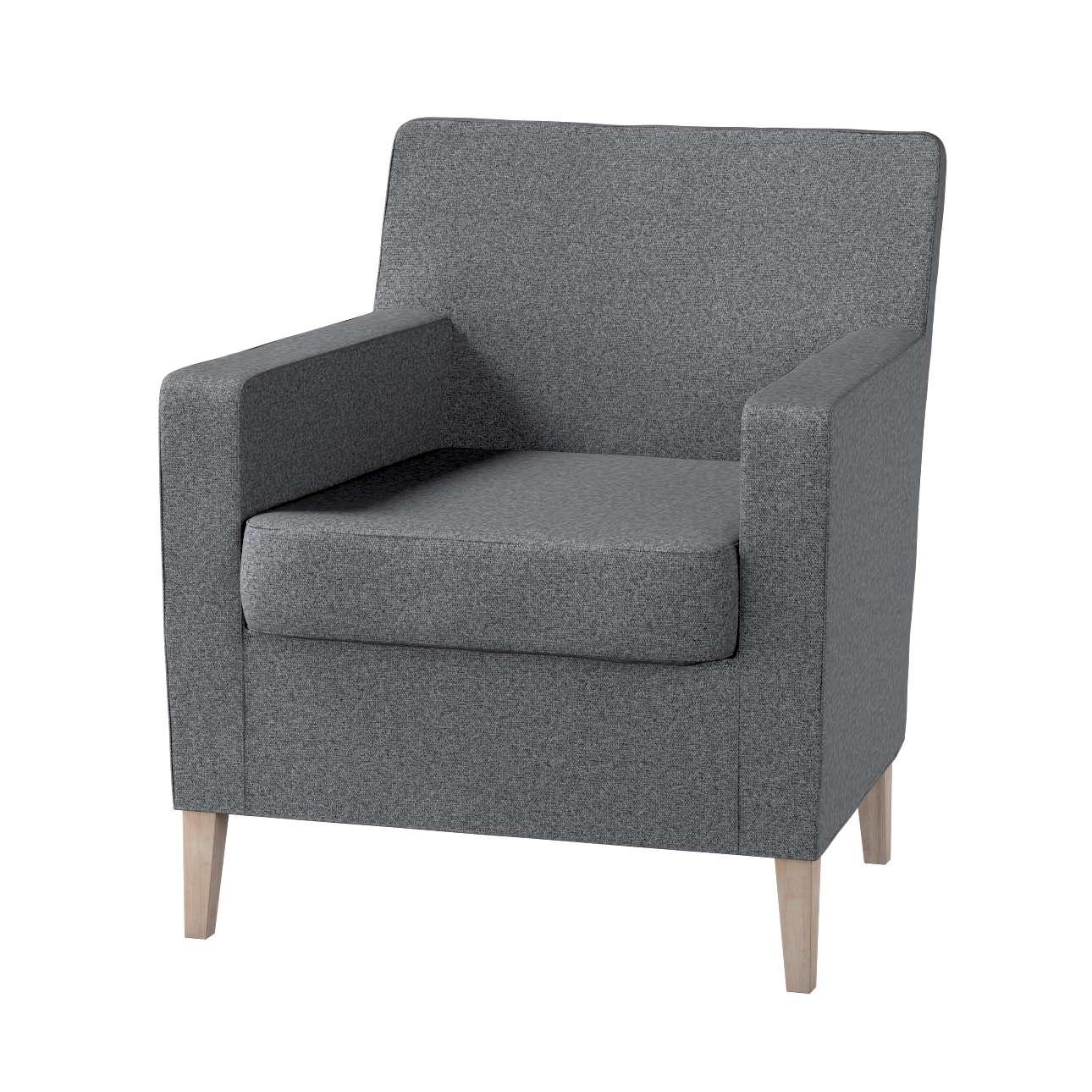Pokrowiec na fotel Karlstad w kolekcji Amsterdam, tkanina: 704-47