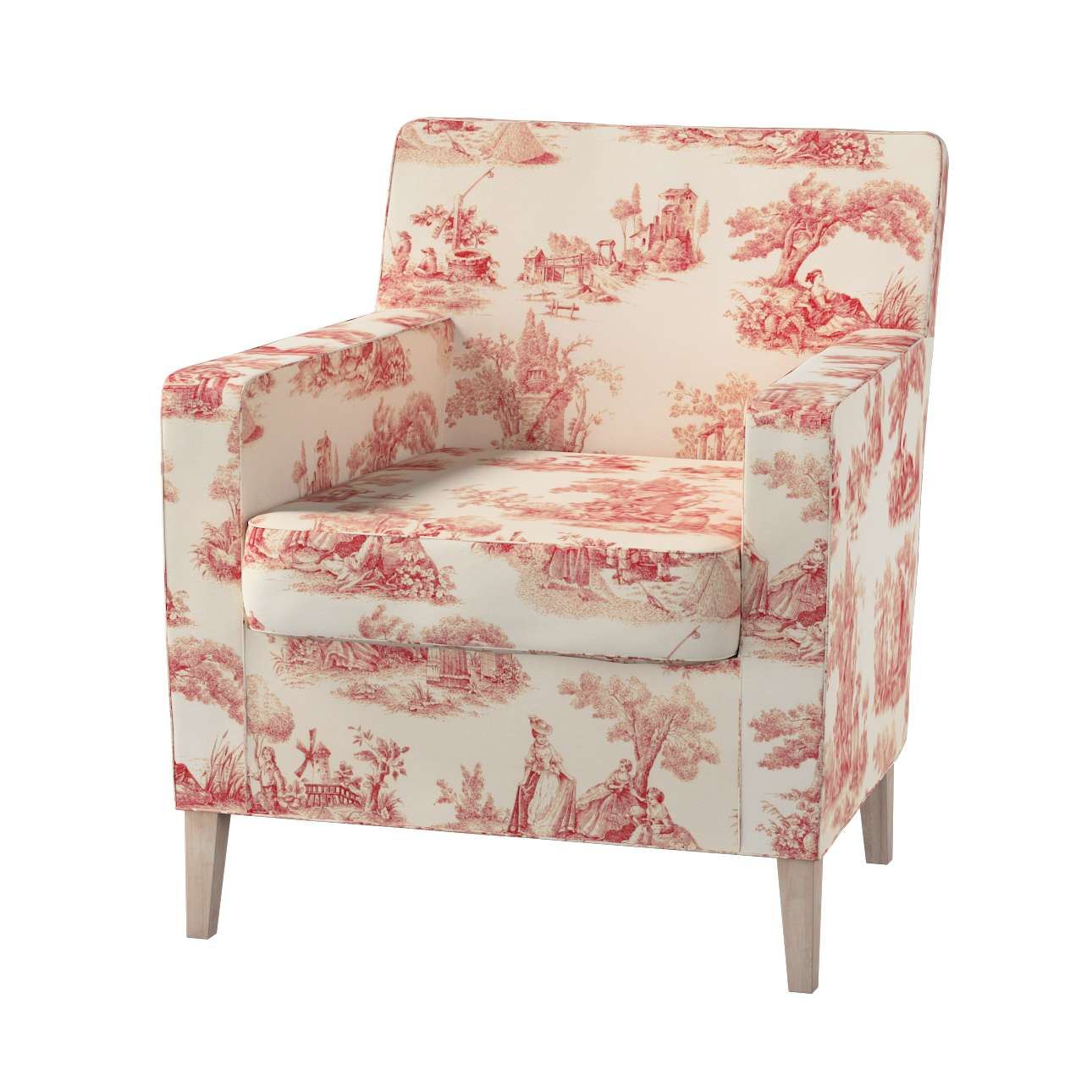 Karlstad tall chair cover in collection Avinon, fabric: 132-15