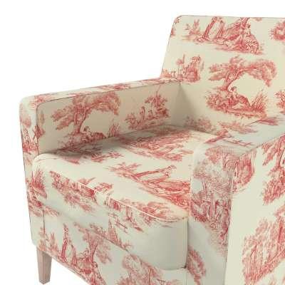 Pokrowiec na fotel Karlstad w kolekcji Avinon, tkanina: 132-15