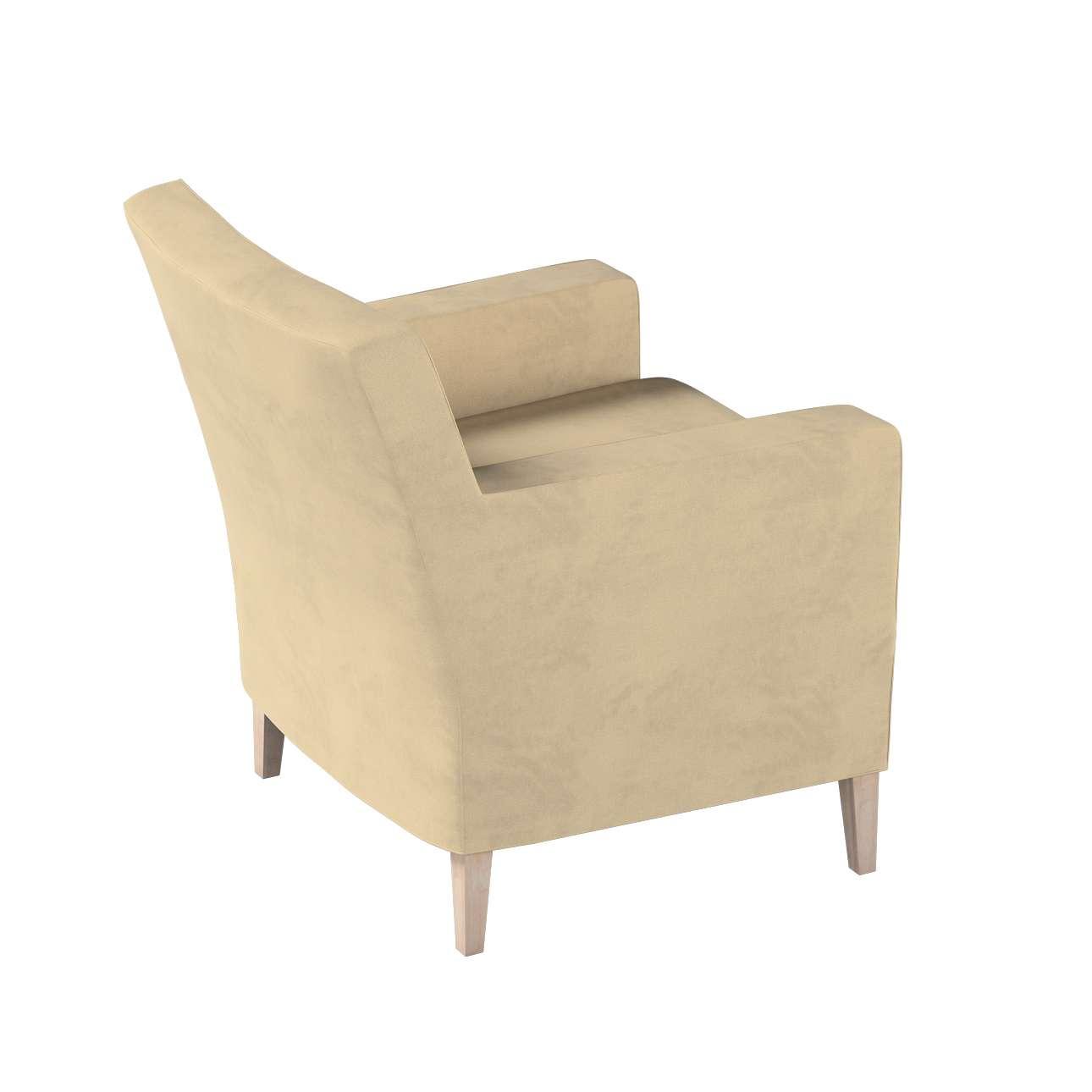 Pokrowiec na fotel Karlstad w kolekcji Living II, tkanina: 160-82