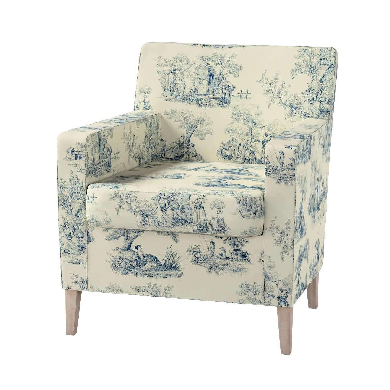 Pokrowiec na fotel Karlstad Fotel  Karlstad w kolekcji Avinon, tkanina: 132-66