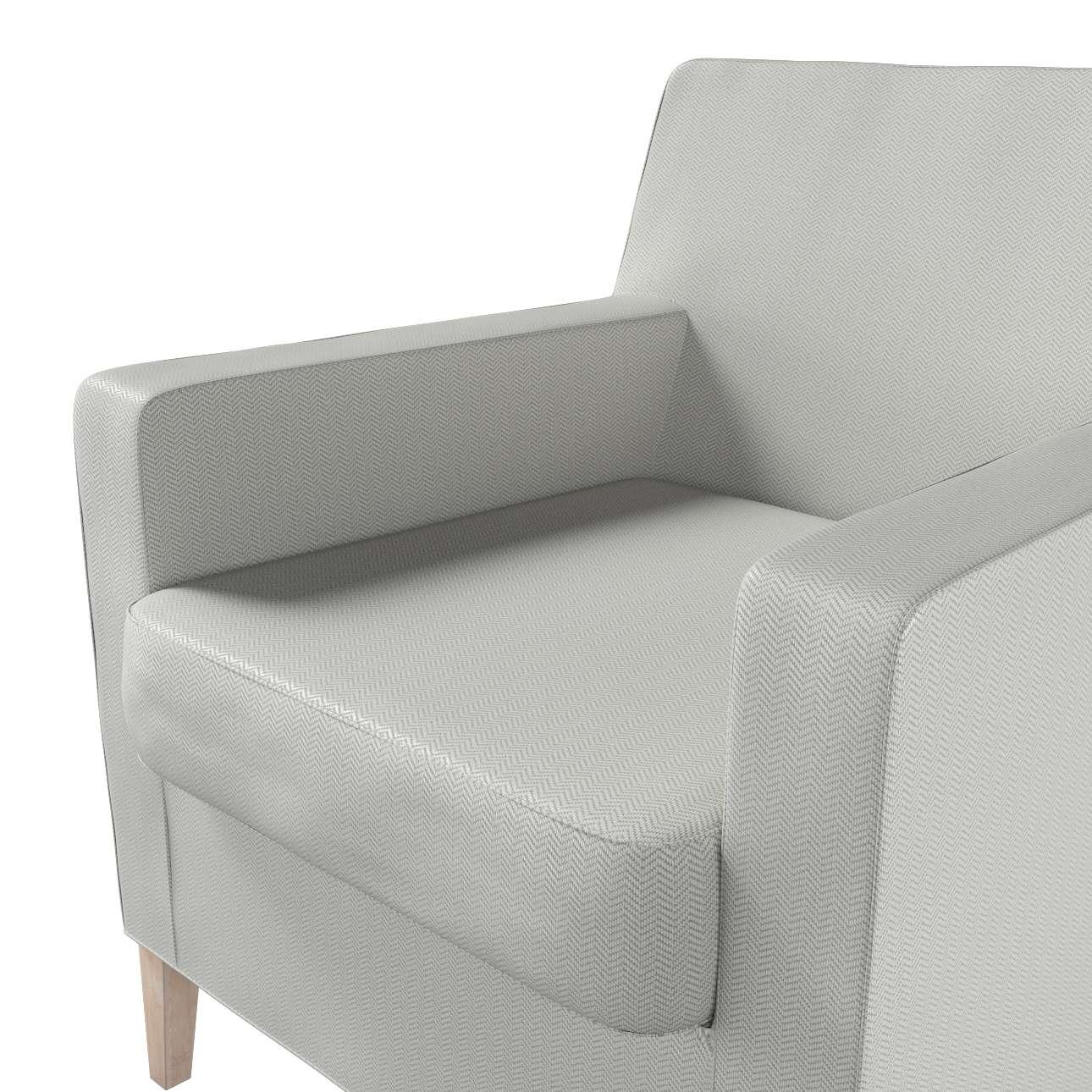 Pokrowiec na fotel Karlstad w kolekcji Bergen, tkanina: 161-84