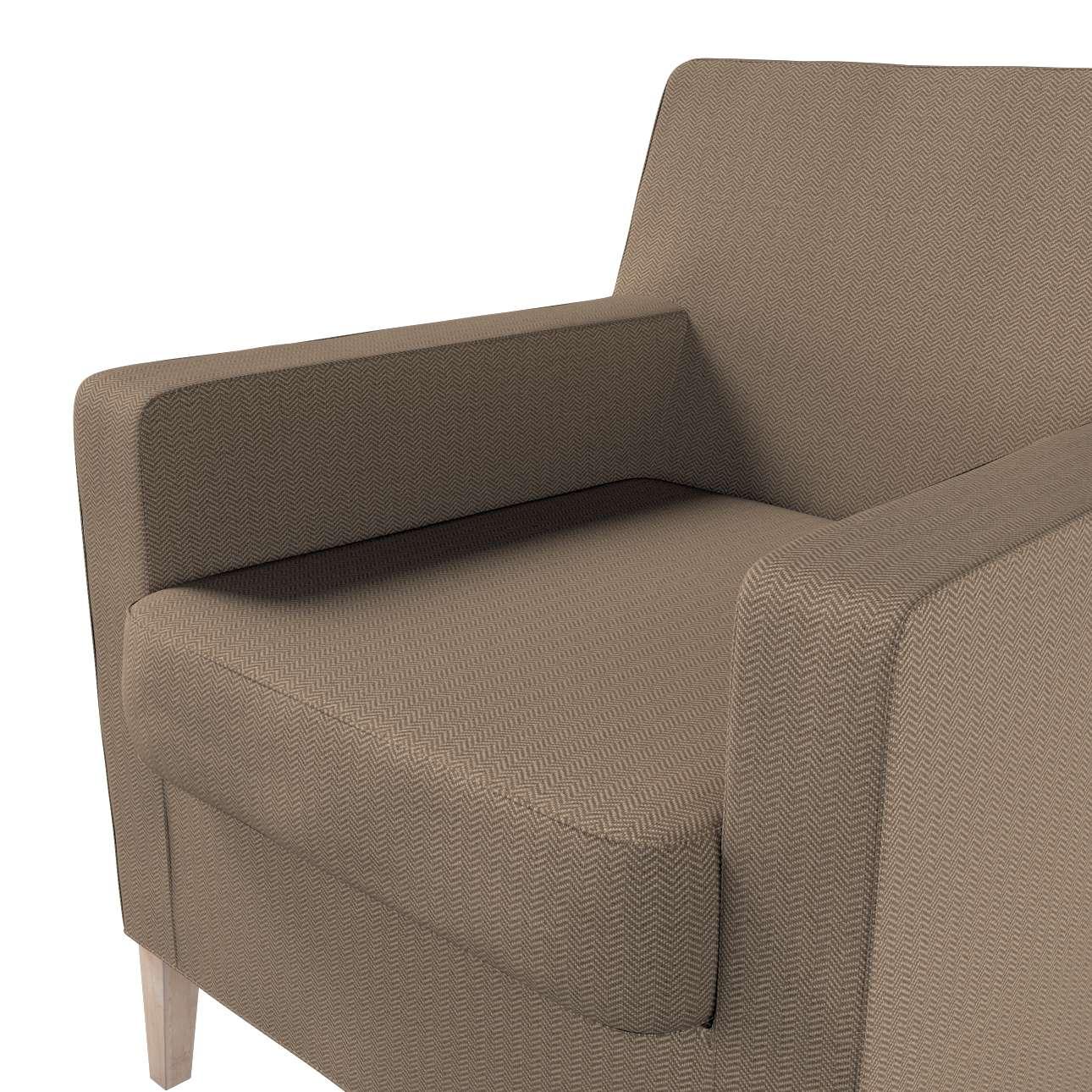 Pokrowiec na fotel Karlstad w kolekcji Bergen, tkanina: 161-85