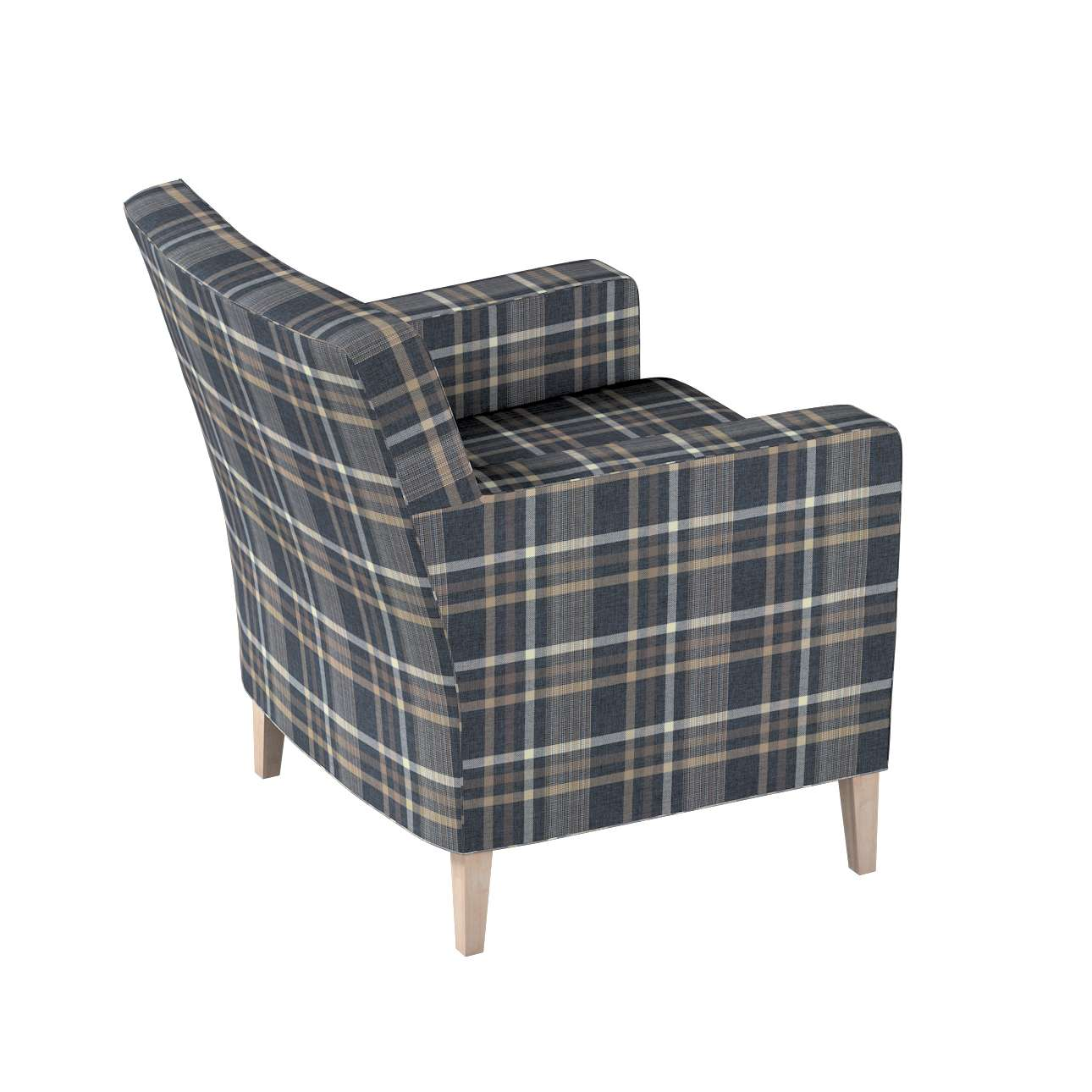 Pokrowiec na fotel Karlstad w kolekcji Edinburgh, tkanina: 703-16