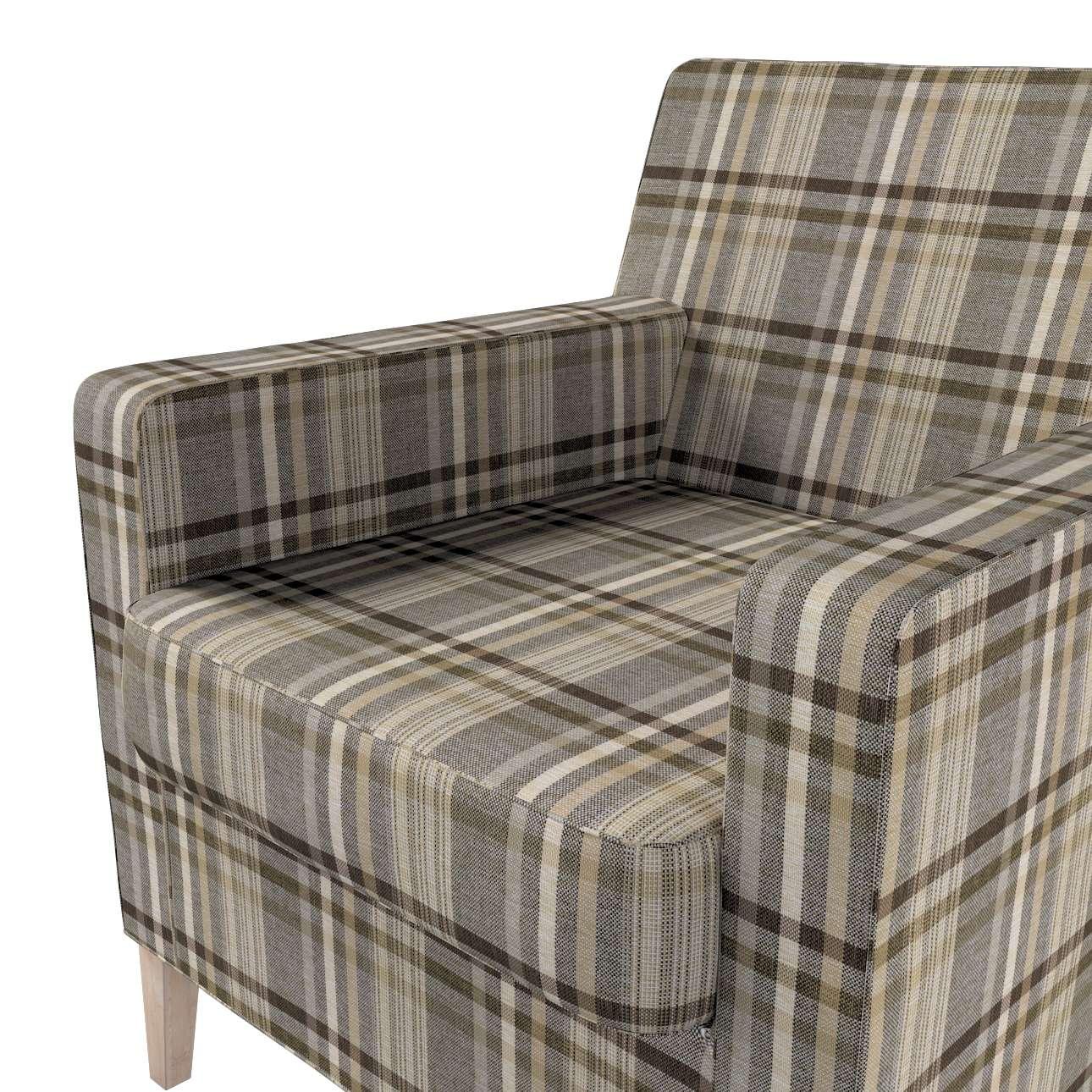 Pokrowiec na fotel Karlstad w kolekcji Edinburgh, tkanina: 703-17