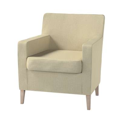 Karlstad betræk lænestol, høj 161-45 Beige/grøn meleret Kollektion Living