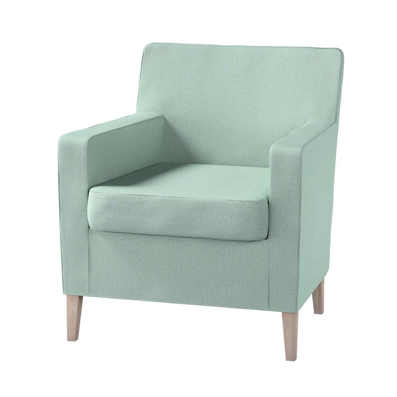 Pokrowiec na fotel Karlstad w kolekcji Living, tkanina: 161-61