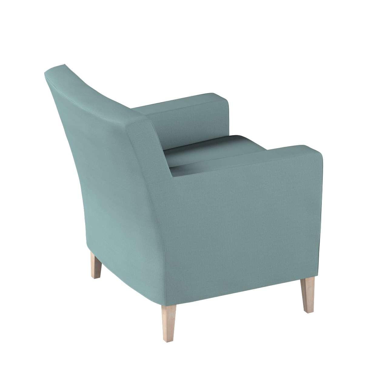 Pokrowiec na fotel Karlstad w kolekcji Cotton Panama, tkanina: 702-40