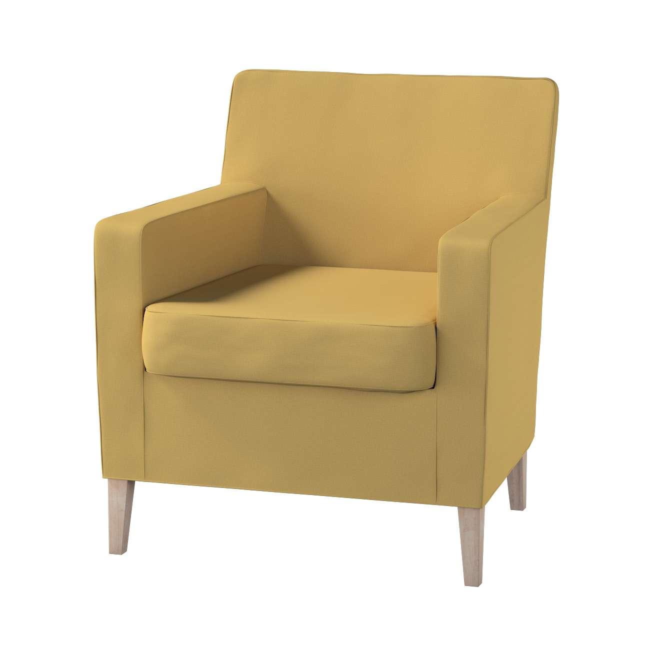 Pokrowiec na fotel Karlstad w kolekcji Cotton Panama, tkanina: 702-41