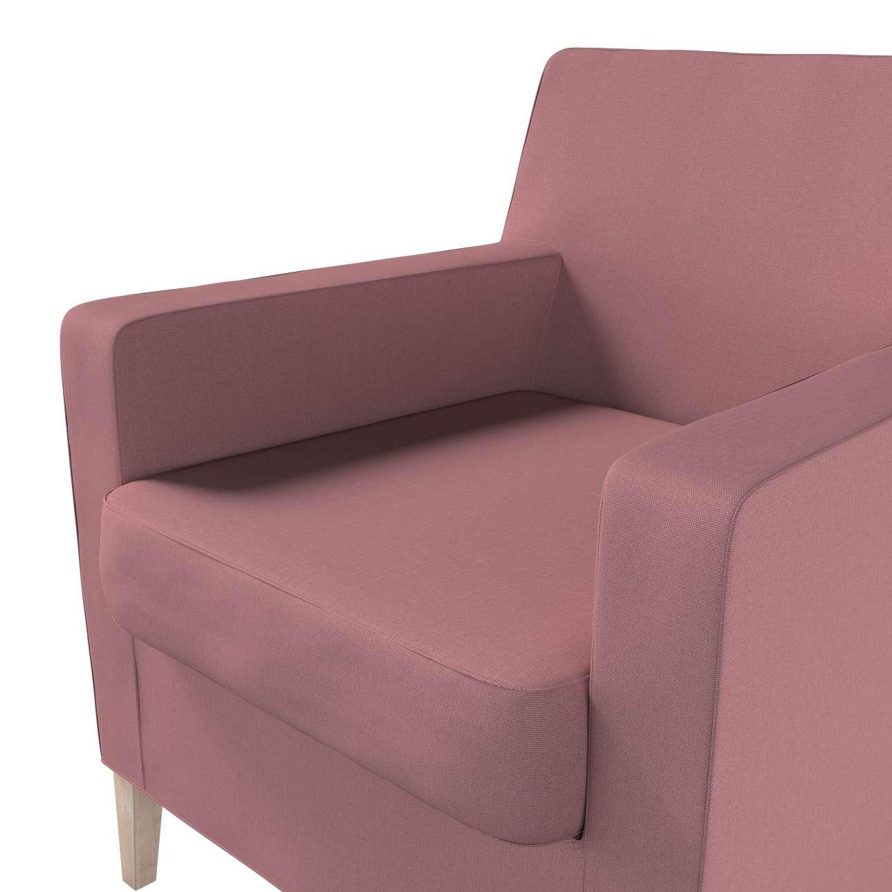 Pokrowiec na fotel Karlstad w kolekcji Cotton Panama, tkanina: 702-43