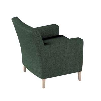 Pokrowiec na fotel Karlstad 704-81 leśna zieleń szenil Kolekcja City