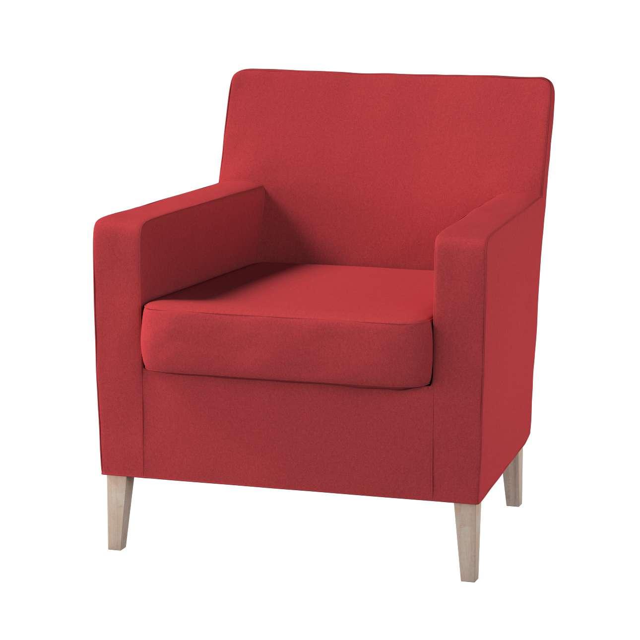 Pokrowiec na fotel Karlstad w kolekcji Living, tkanina: 161-56