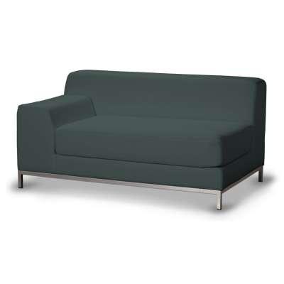 Pokrowiec na sofę lewostronną Kramfors 2-osobową 705-36 zgaszony szmaragd - welwet Kolekcja Ingrid
