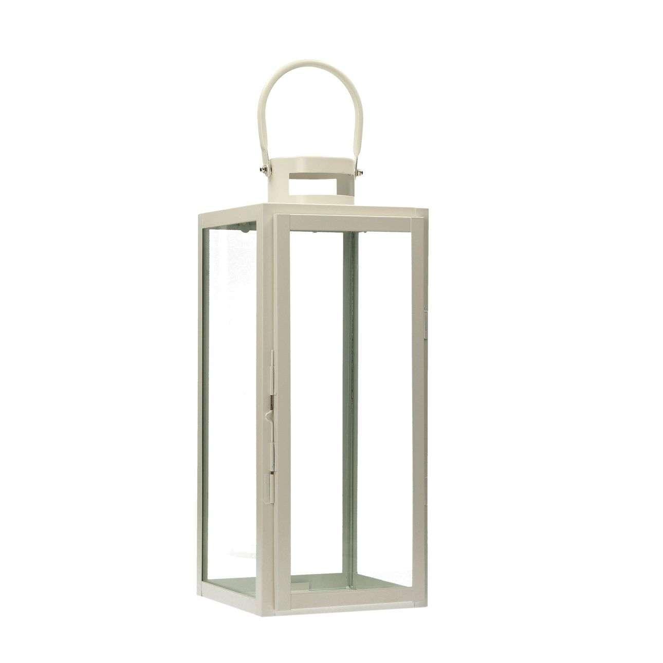 Lampion Metalowy Elegance White 50 cm