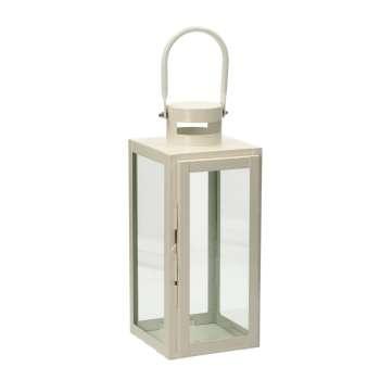 Lampion Metalowy Elegance White 40 cm