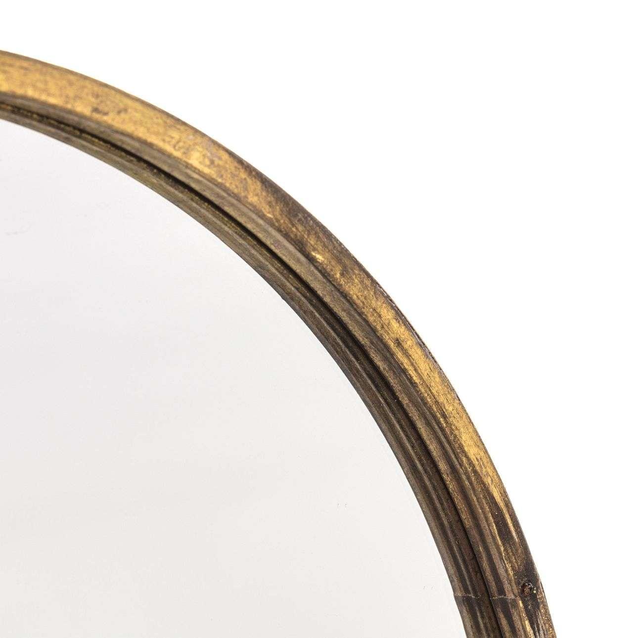Zrcadlo závěsné kulaté Old Gold 55cm
