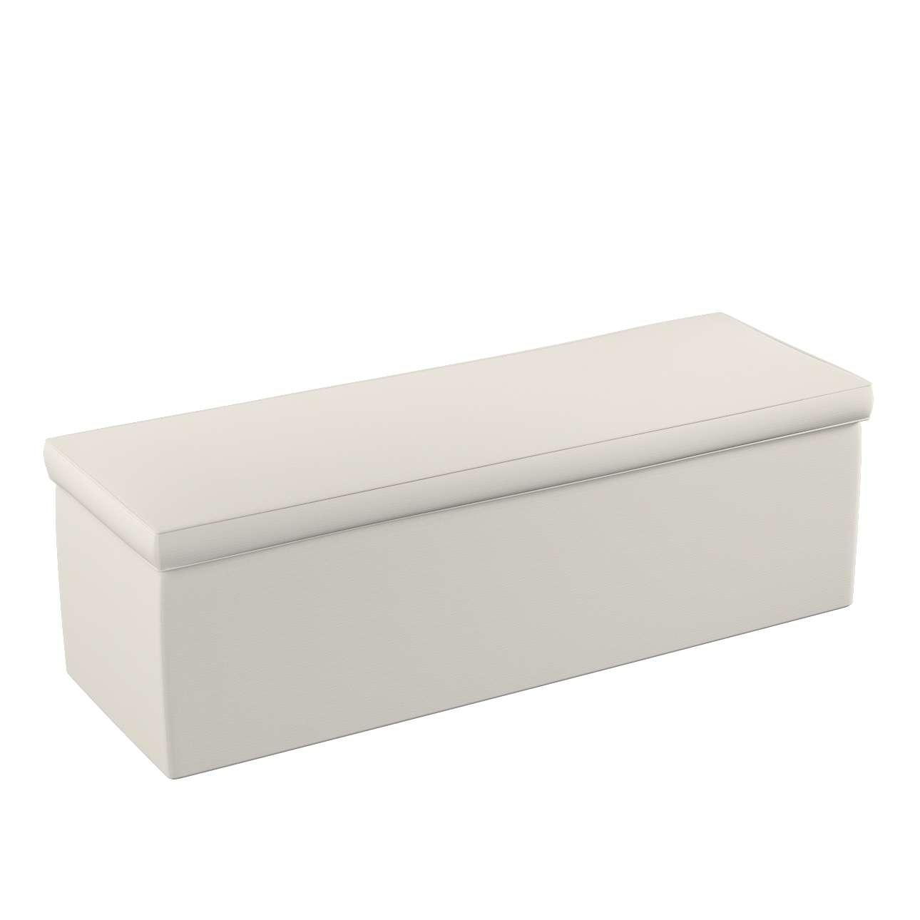 Truhe 90 x 40 x 40 cm von der Kollektion Cotton Panama, Stoff: 702-31