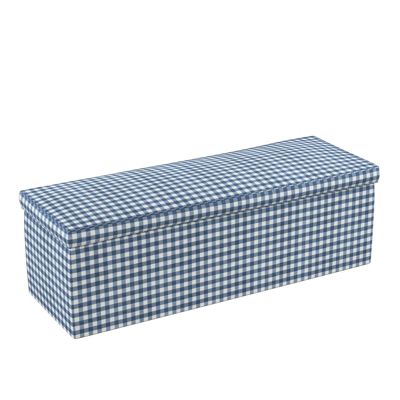 Truhlica čalúnená 90 x 40 x 40 cm V kolekcii Quadro, tkanina: 136-01