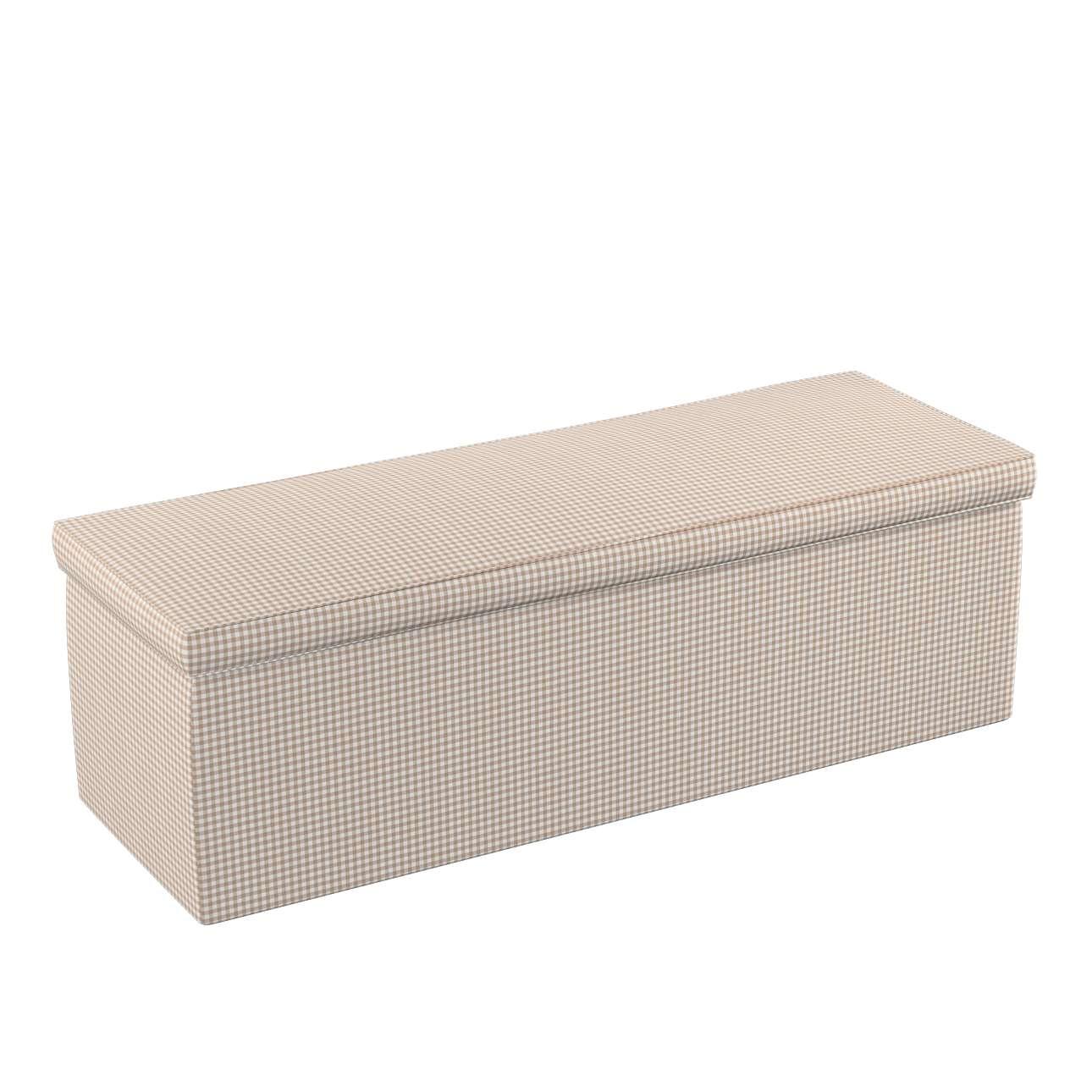 Truhlica čalúnená 90 x 40 x 40 cm V kolekcii Quadro, tkanina: 136-05