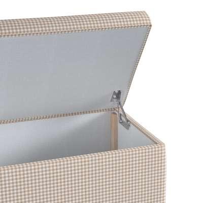 Skrzynia tapicerowana w kolekcji Quadro, tkanina: 136-05