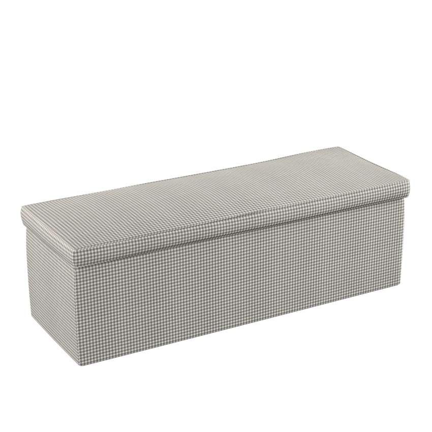 truhe grau ecru 90 x 40 x 40 cm dekoria. Black Bedroom Furniture Sets. Home Design Ideas