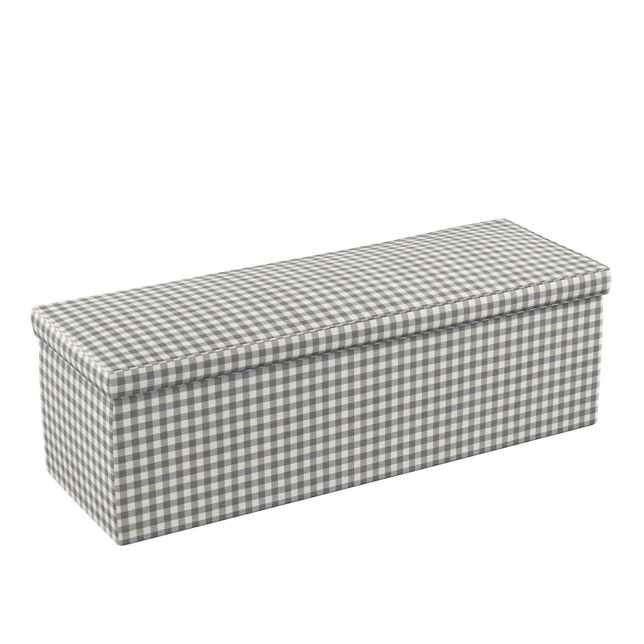 Truhe, grau-ecru , 90 x 40 x 40 cm, Quadro | Wohnzimmer > Truhen | Dekoria