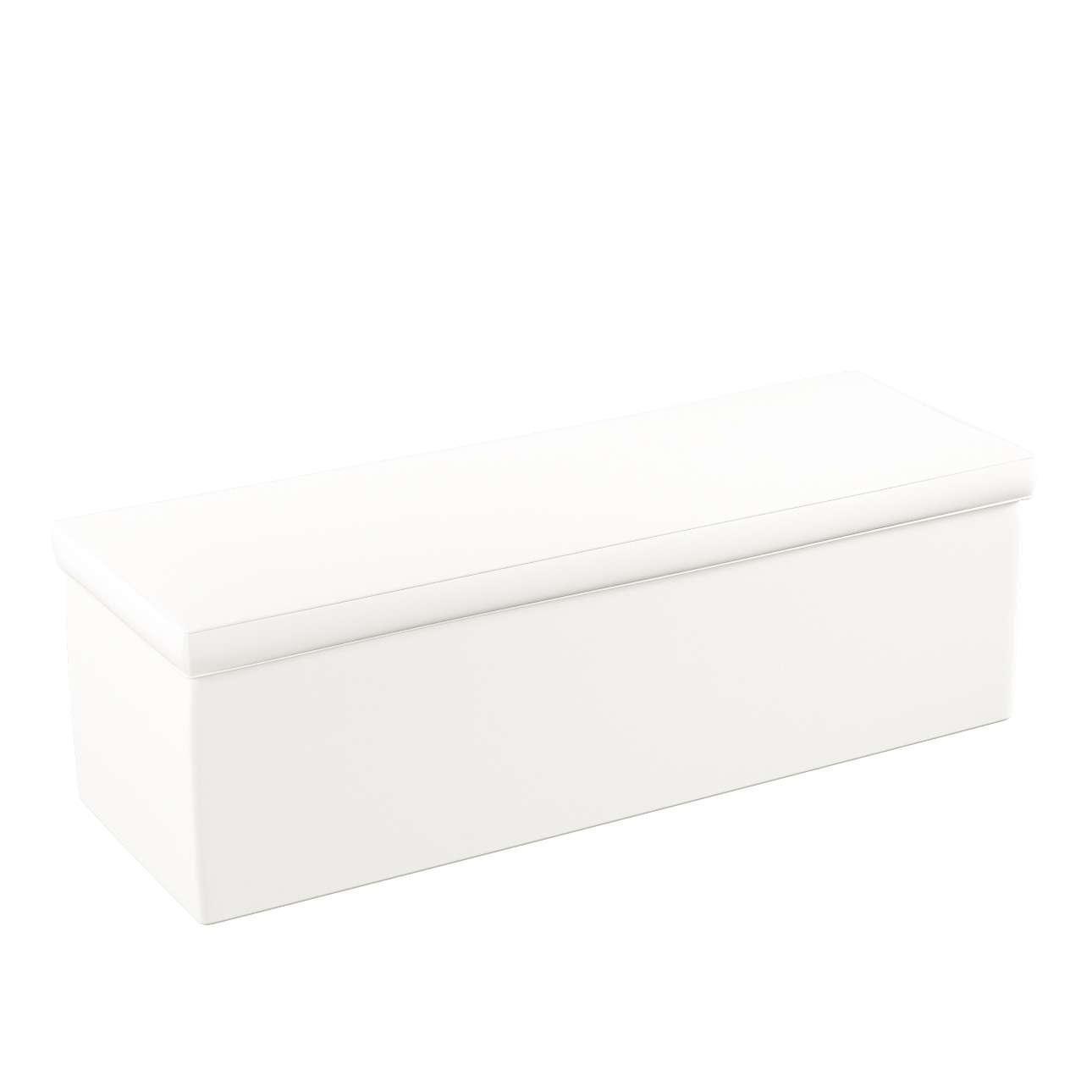 Truhe 90 x 40 x 40 cm von der Kollektion Cotton Panama, Stoff: 702-34