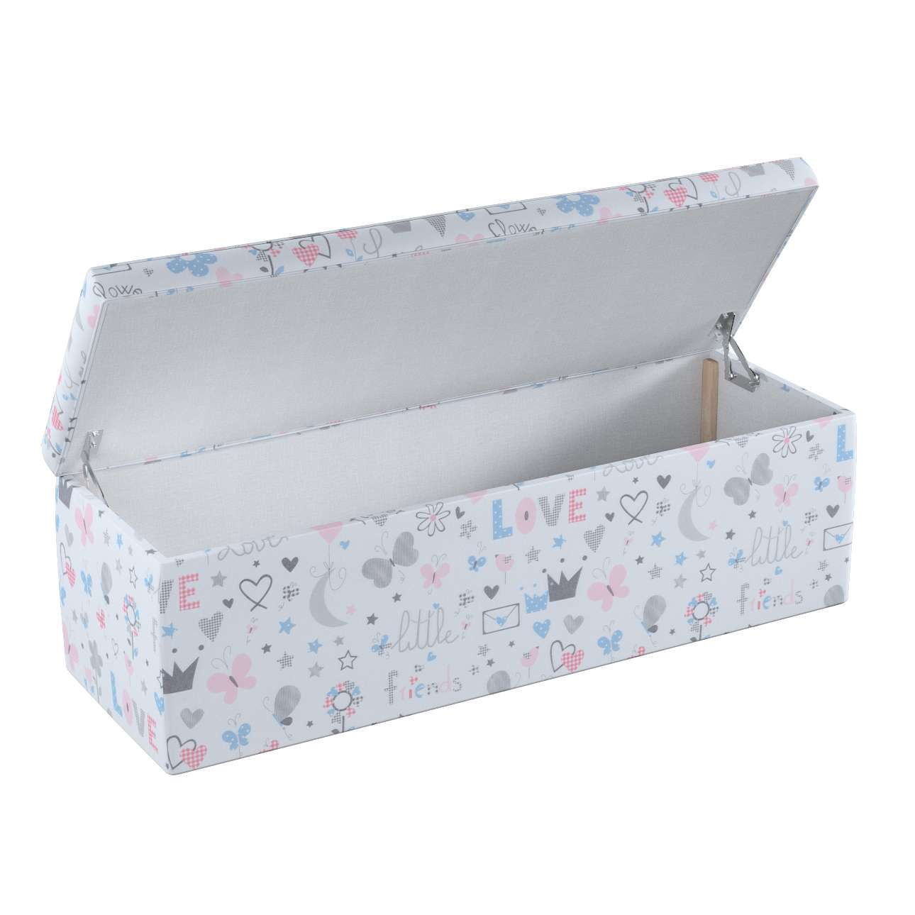 Truhe 90 x 40 x 40 cm von der Kollektion Little World, Stoff: 141-27
