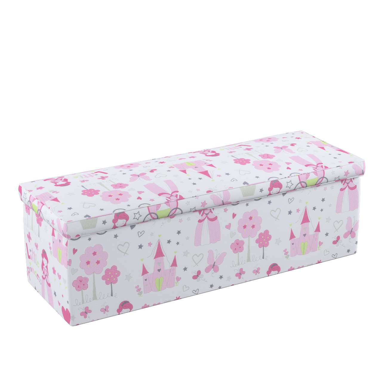 Truhe 90 x 40 x 40 cm von der Kollektion Little World, Stoff: 141-28