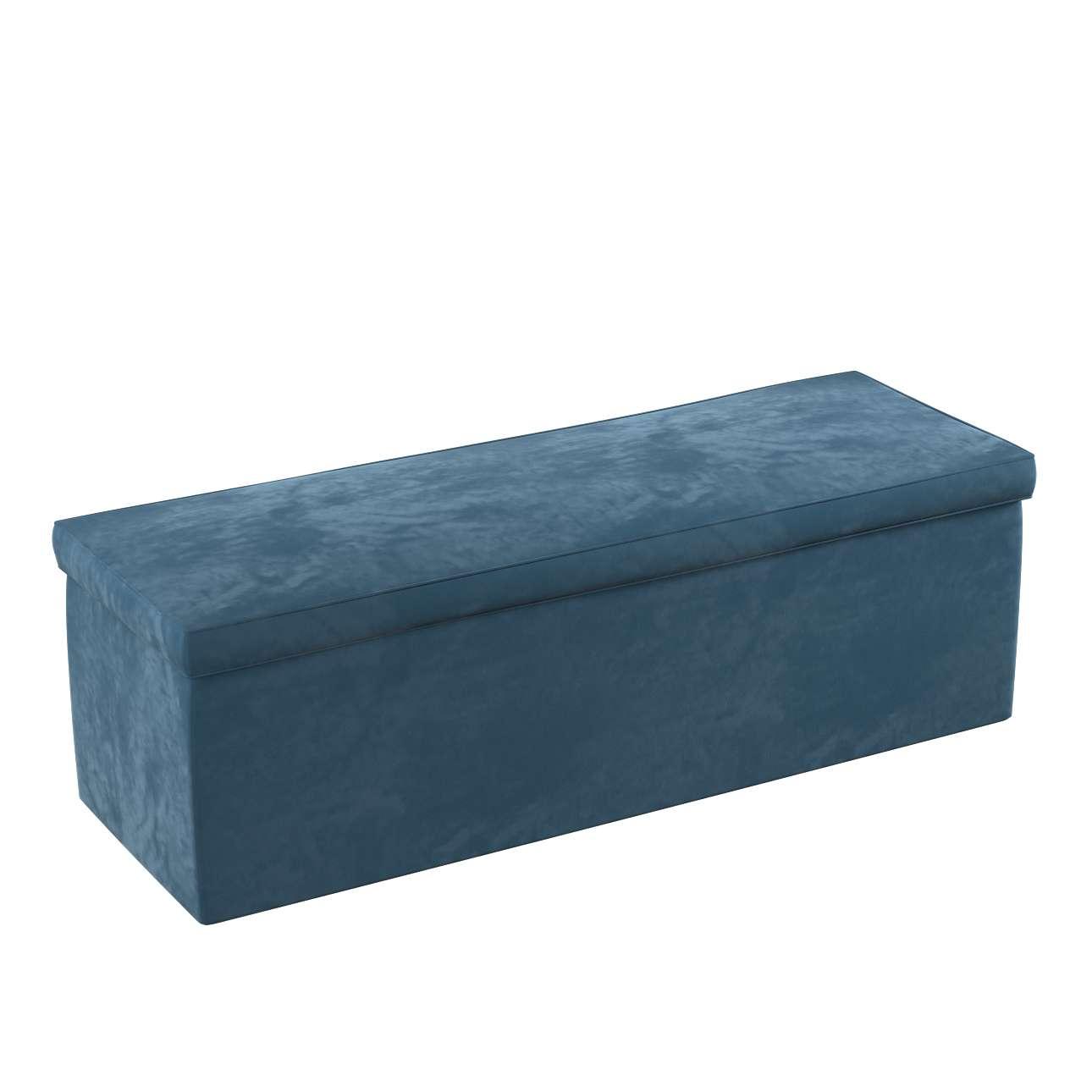 Truhe, blau, 120 x 40 x 40 cm, Velvet | Wohnzimmer > Truhen | Dekoria