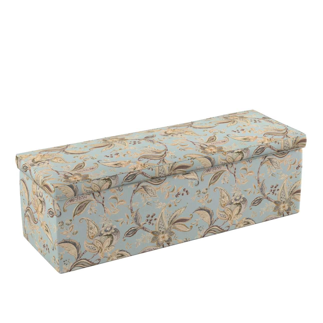 Dekoria Čalouněná skříň s volbou látky - 2 velikosti, rostlinné vzory na šedém podkladu, 90 × 40 × 40 cm, Gardenia, 142-18