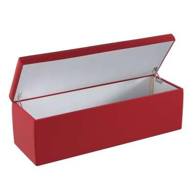 Čalouněný úložný sedací box 704-15 intenzivní červená Kolekce Posh Velvet
