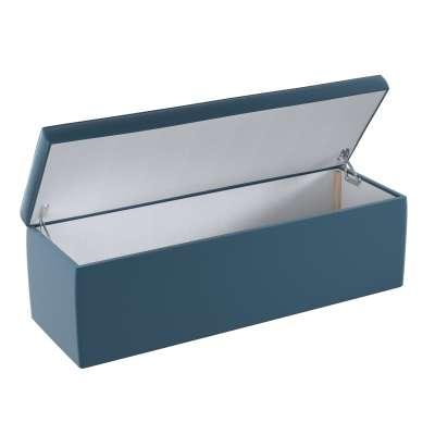 Upholstered storage chest 704-16 dark blue Collection Posh Velvet