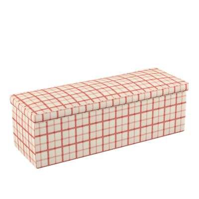 Dežė/skrynia/daiktadėžė 131-15 raudoni kvadratėliai dramblio kaulo spalvos fone Kolekcija Avinon