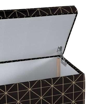 Skrzynia tapicerowana w kolekcji Black & White, tkanina: 142-55