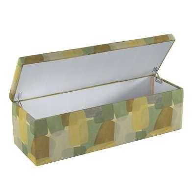 Skrzynia tapicerowana 143-72 geometryczne wzory w zielono-brązowej kolorystyce Kolekcja Vintage 70's